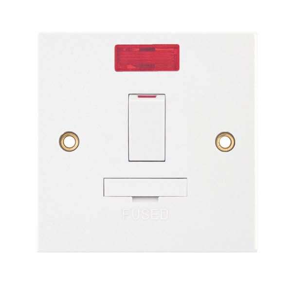 13 Amp Fused Connection Unit with Neon Double Pole – Switched