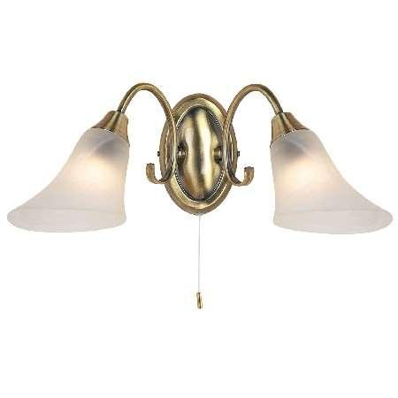 2-Light Antique Brass Wall Bracket