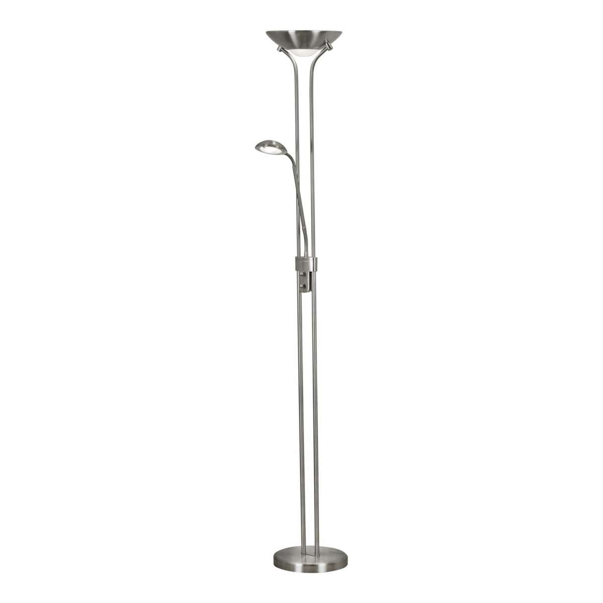 18W LED Satin Silver Mother & Child Floor Lamp