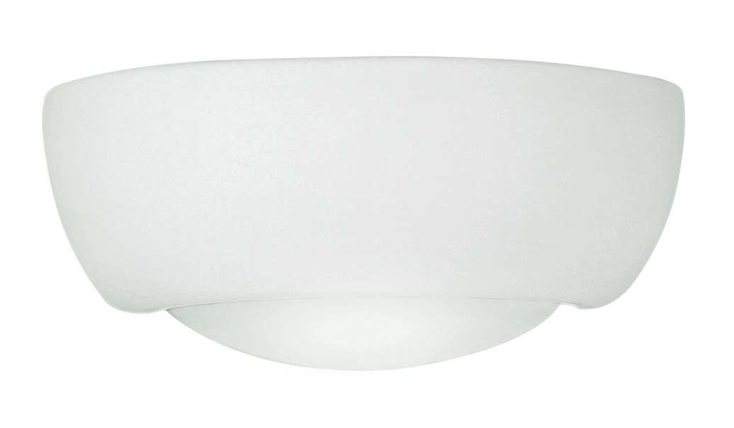 1-Light White Unglazed Wall Bracket