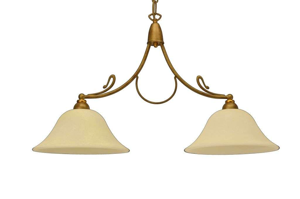 2 Light Billiard Bar Light Antique Gold