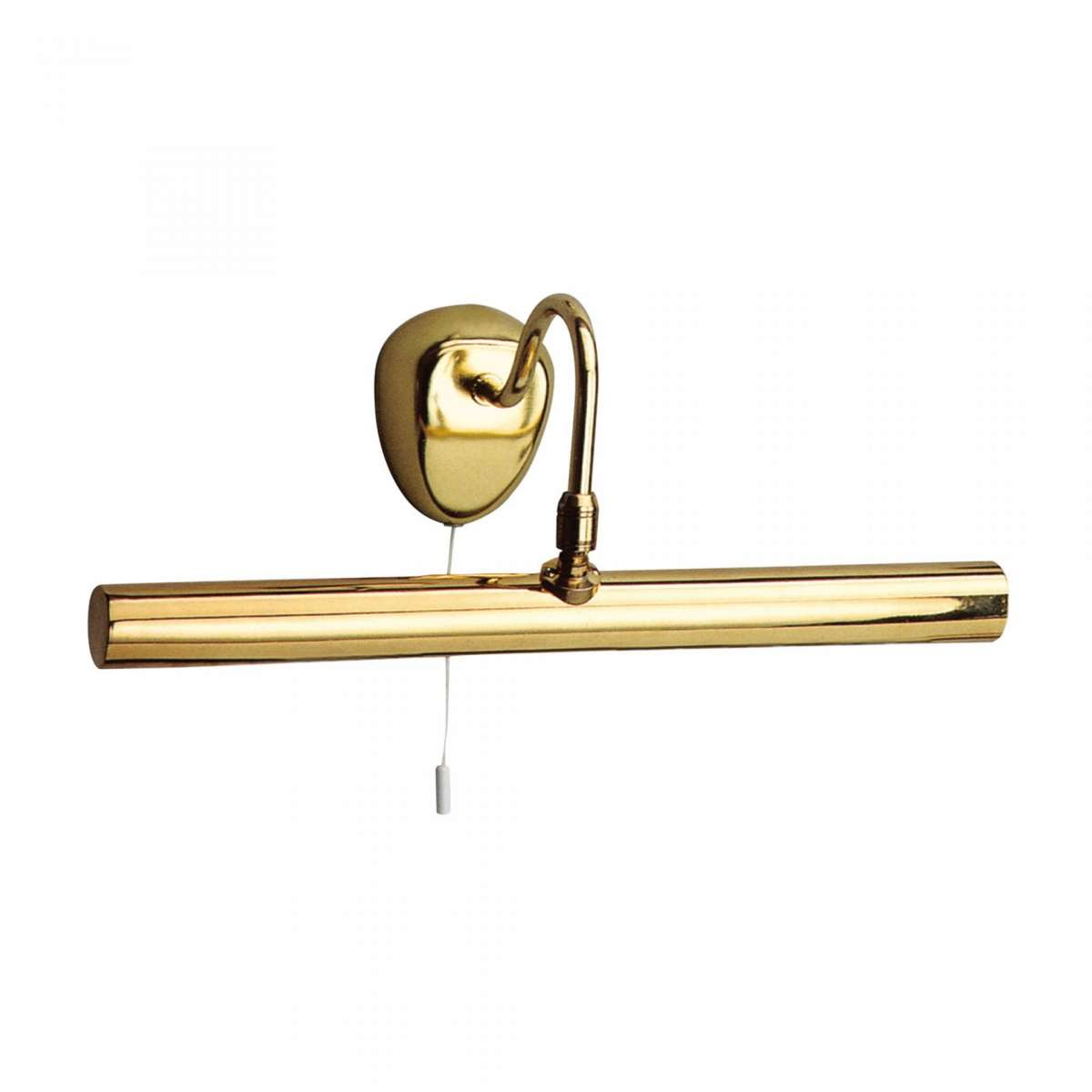 2 Light Picture Light Polished Brass with Adjustable Knuckle Joint