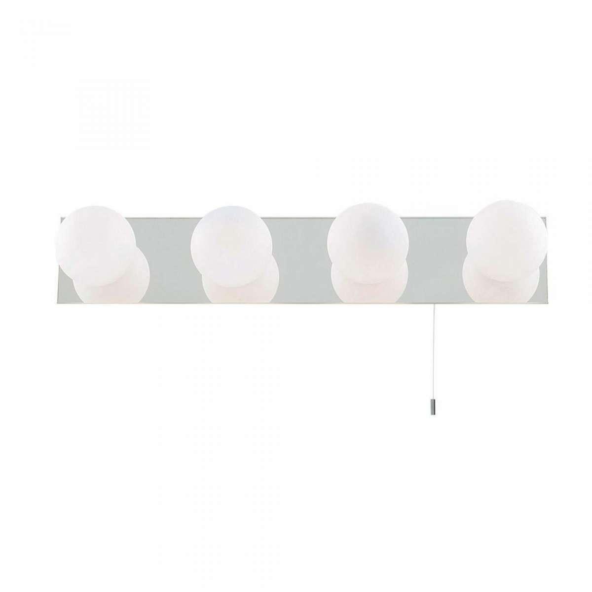 63374LED Bathroom Ip44 Globe 4 Light Chrome Mirror Wall Light
