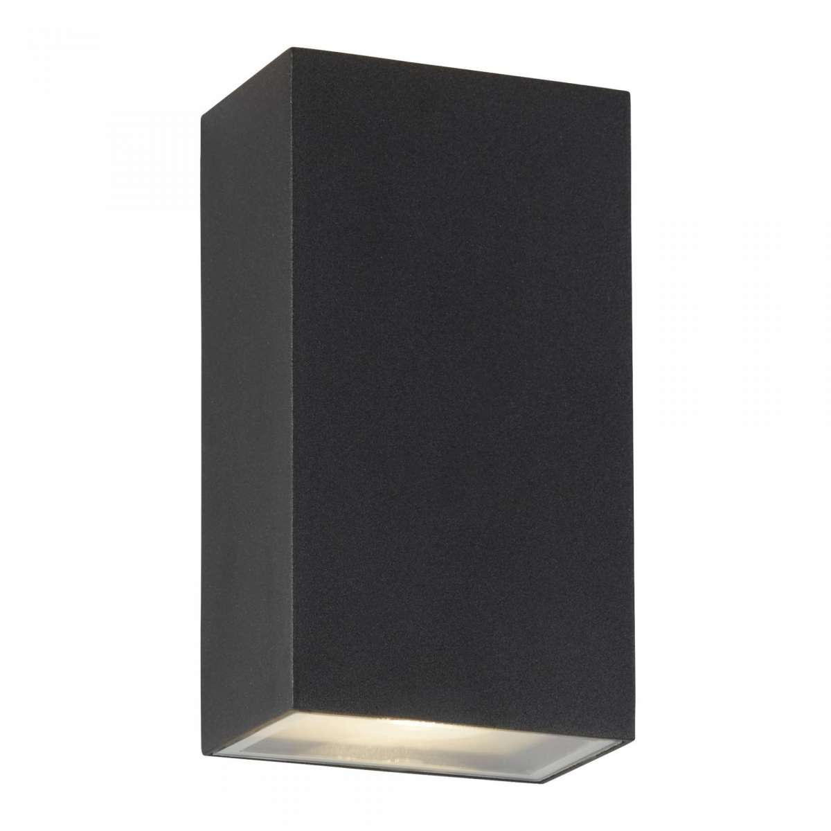 6W LED Outdoor Up Down Rectangle Wall Bracket Black