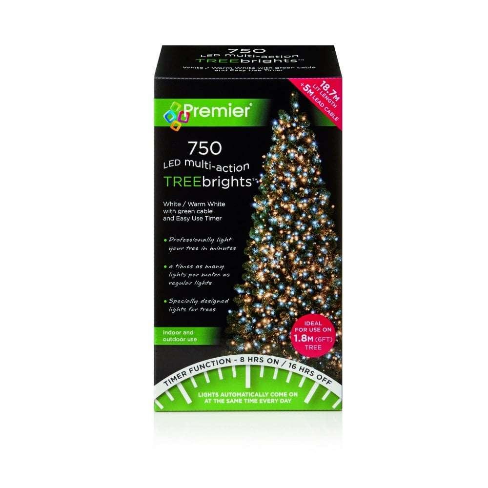 750 LED Timer Treebrights Multi Coloured Christmas Tree Lights