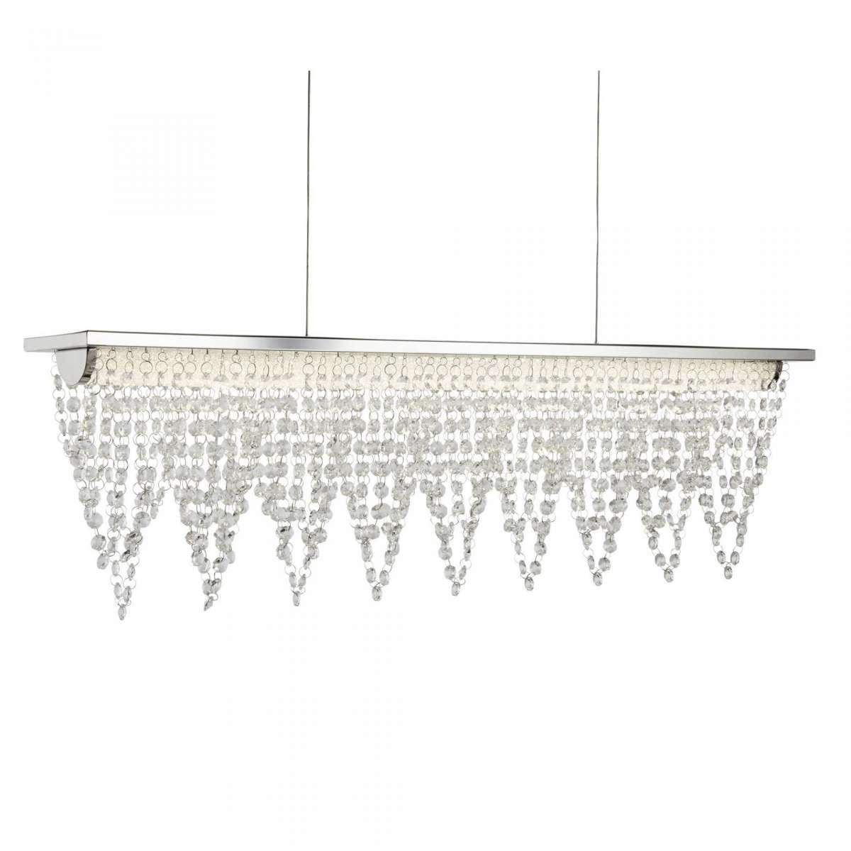 8857CC Drape LED Ceiling Bar Crystal Waterfall Dressing