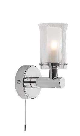 Elba 1-Light Polished Chrome Bathroom Wall Bracket