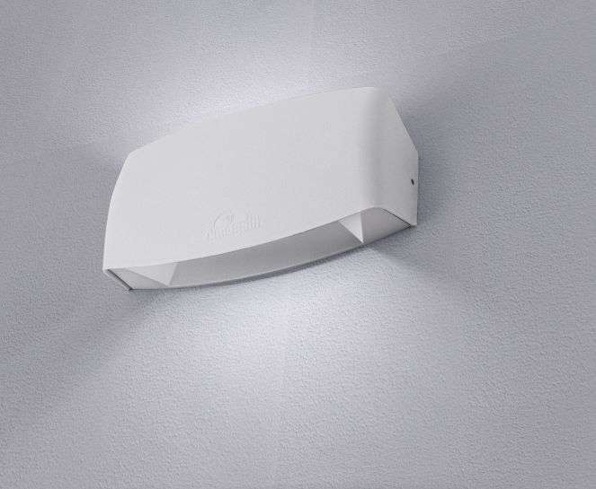 Abram 190 8W Up and Down LED Wall Light White