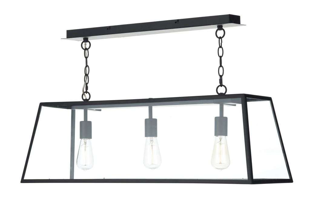 Academy 3-Light Black Pendant