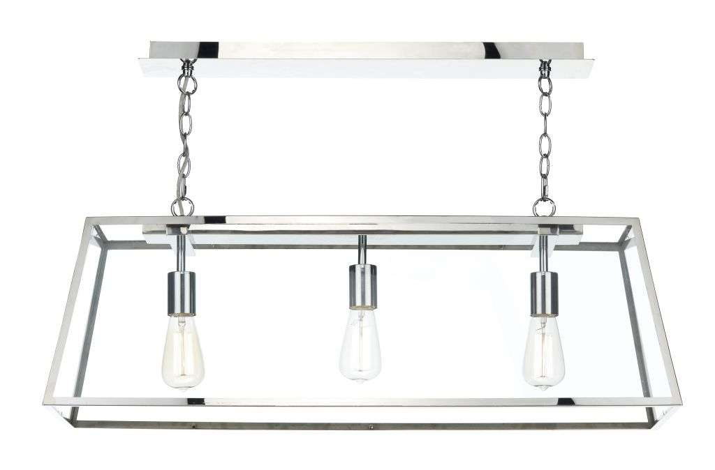 Academy 3-Light Stainless Steel Pendant