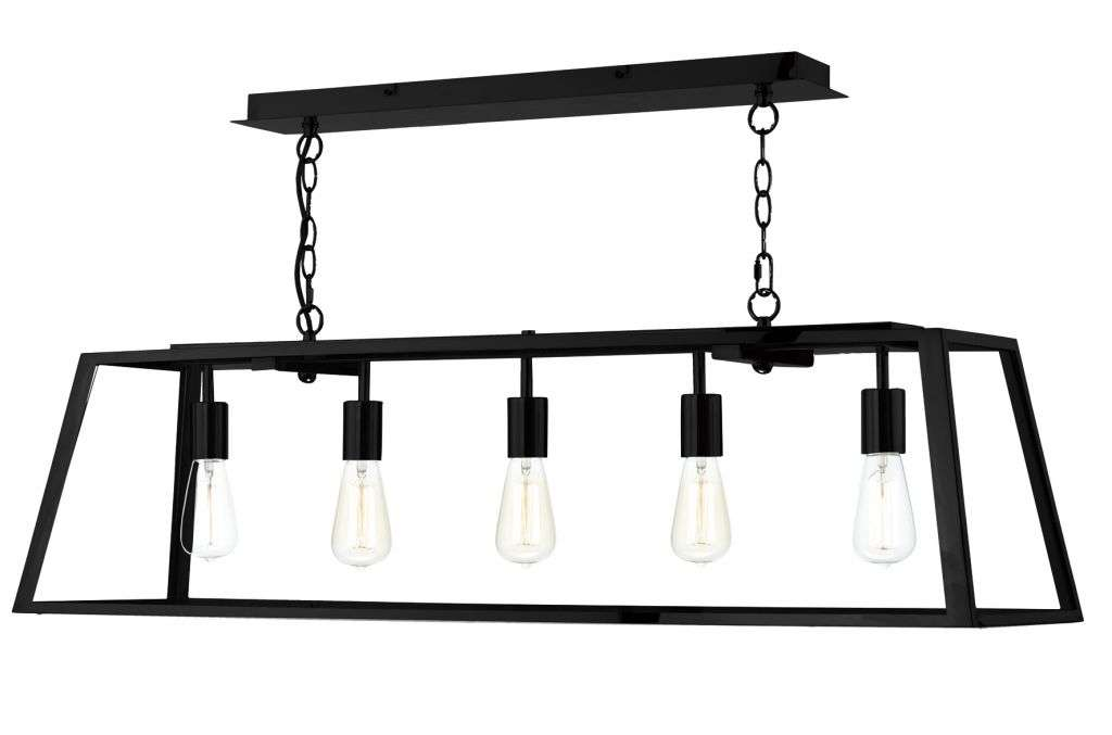 Academy 5-Light Black Pendant