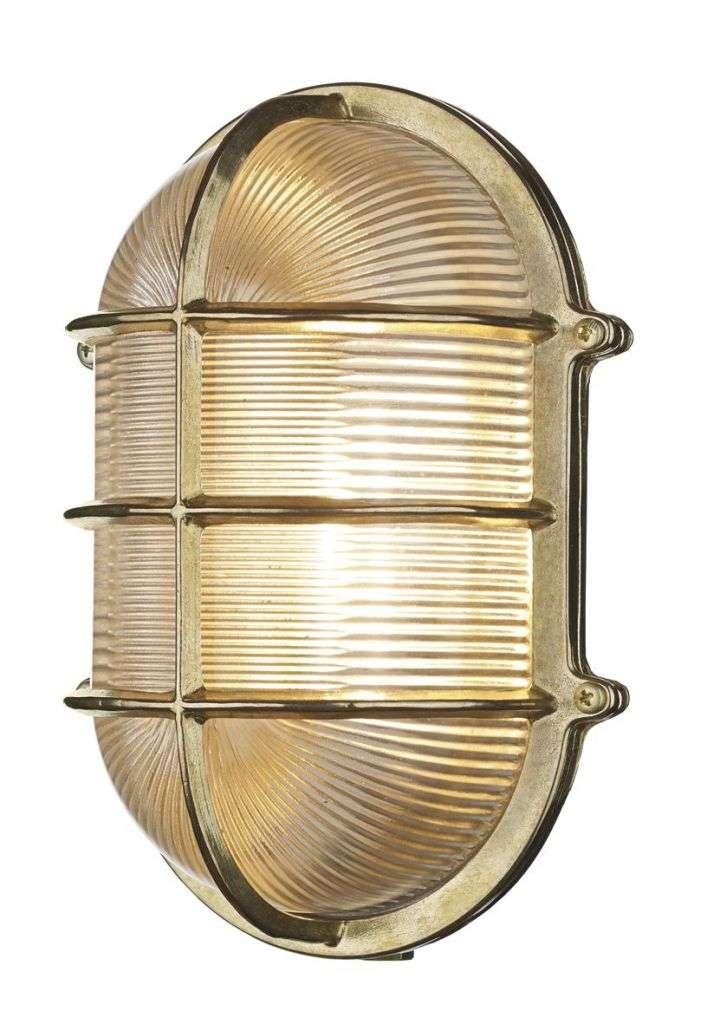 Admiral Large Oval Wall Bulkhead Brass