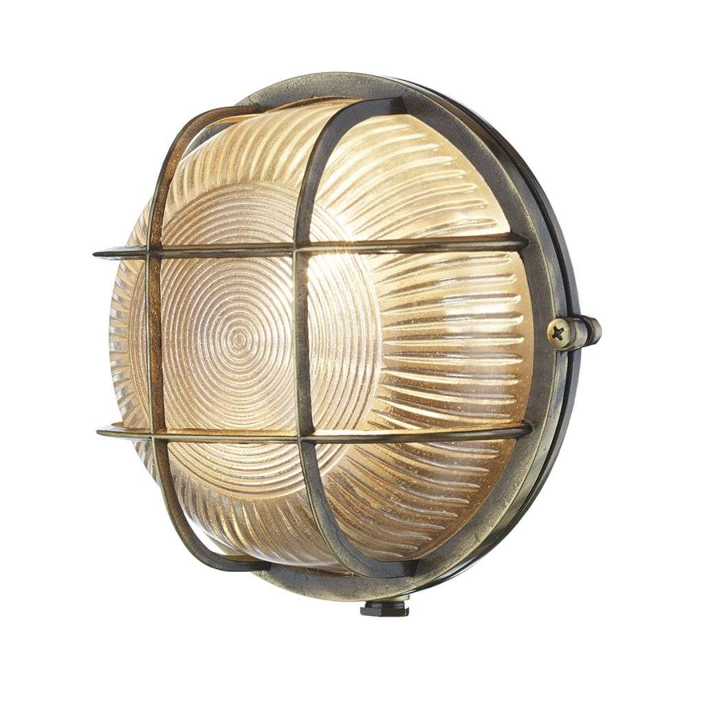 Admiral Round Wall Light Antique Brass