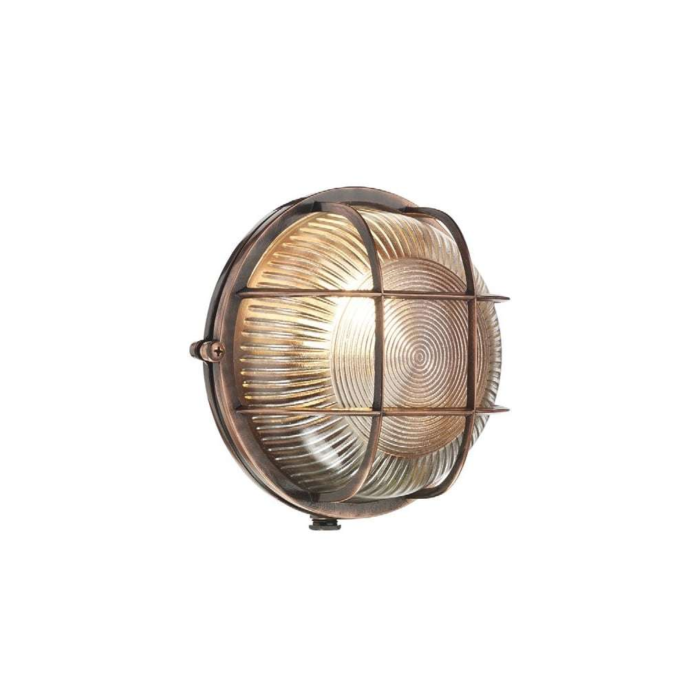 Admiral Round Wall Light Antique Copper