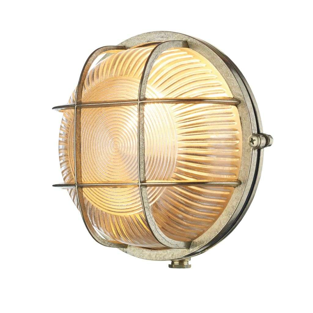 Admiral Round Wall Light Brass