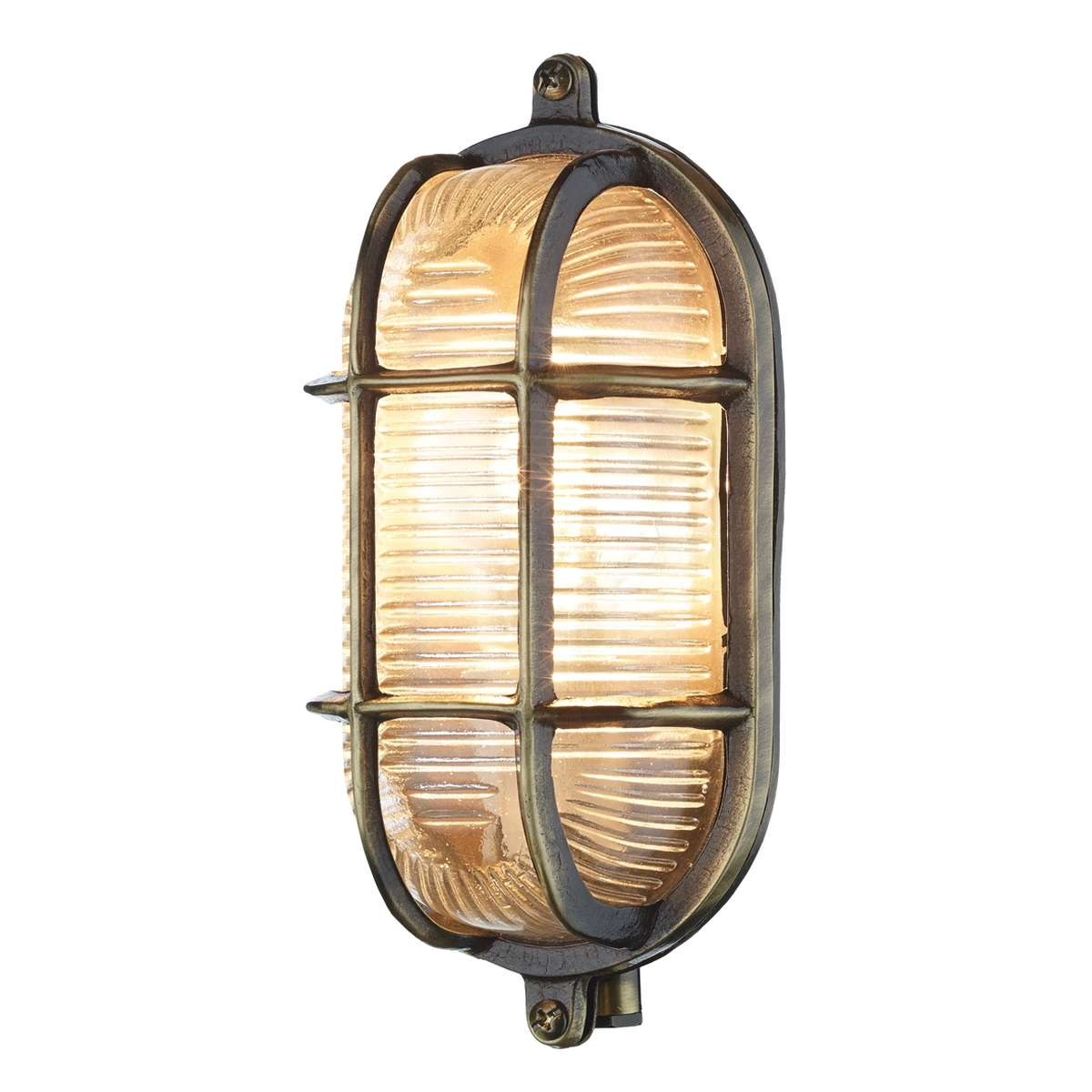 Admiral Small Oval Wall Light Antique Brass