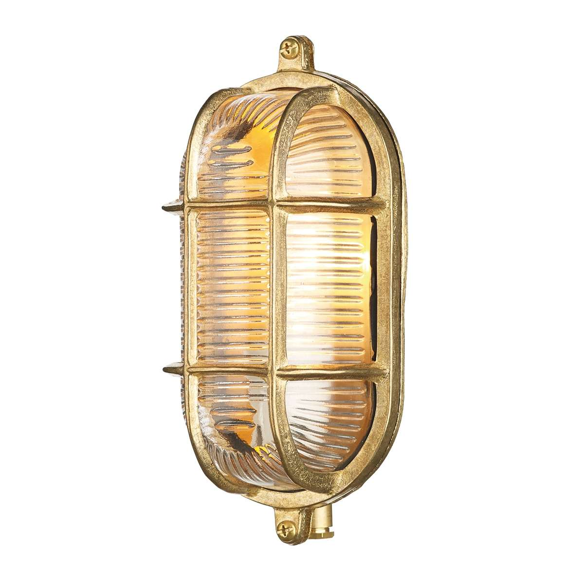 Admiral Small Oval Wall Light Brass