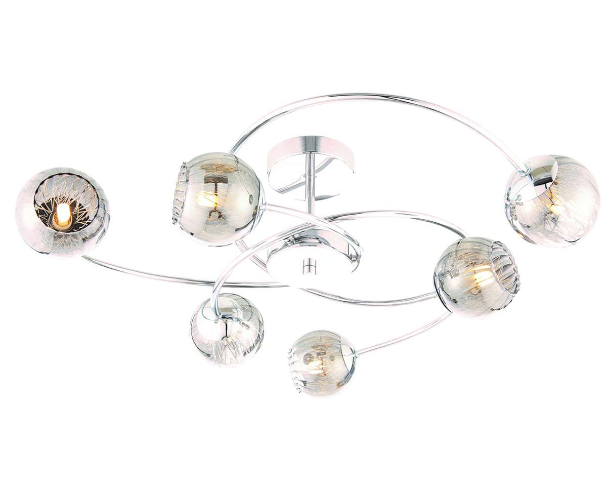 Aerith 6 Light Semi Flush 28W