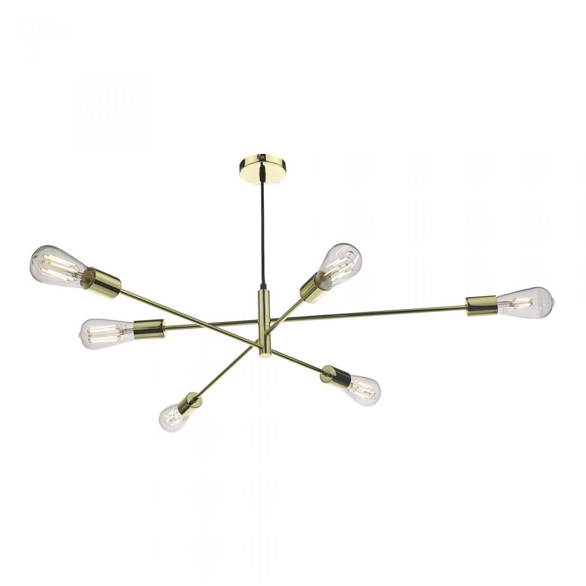 Alana 6 Light Pendant Polished Gold
