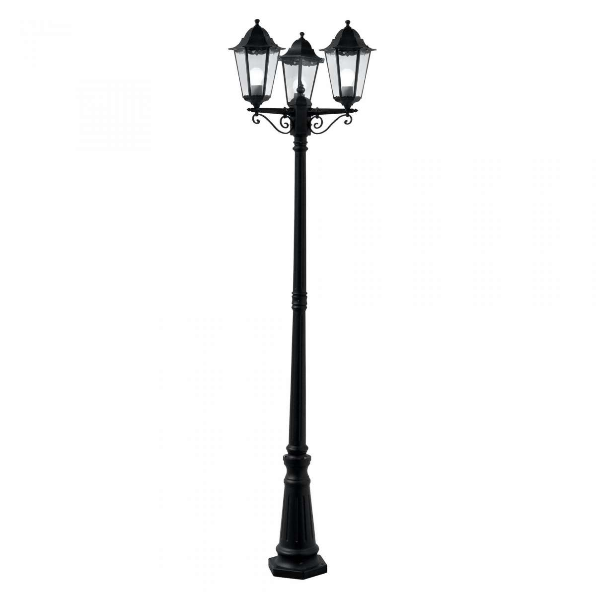 Alex Outdoor 2270mm 3 Light Post Lamp Black
