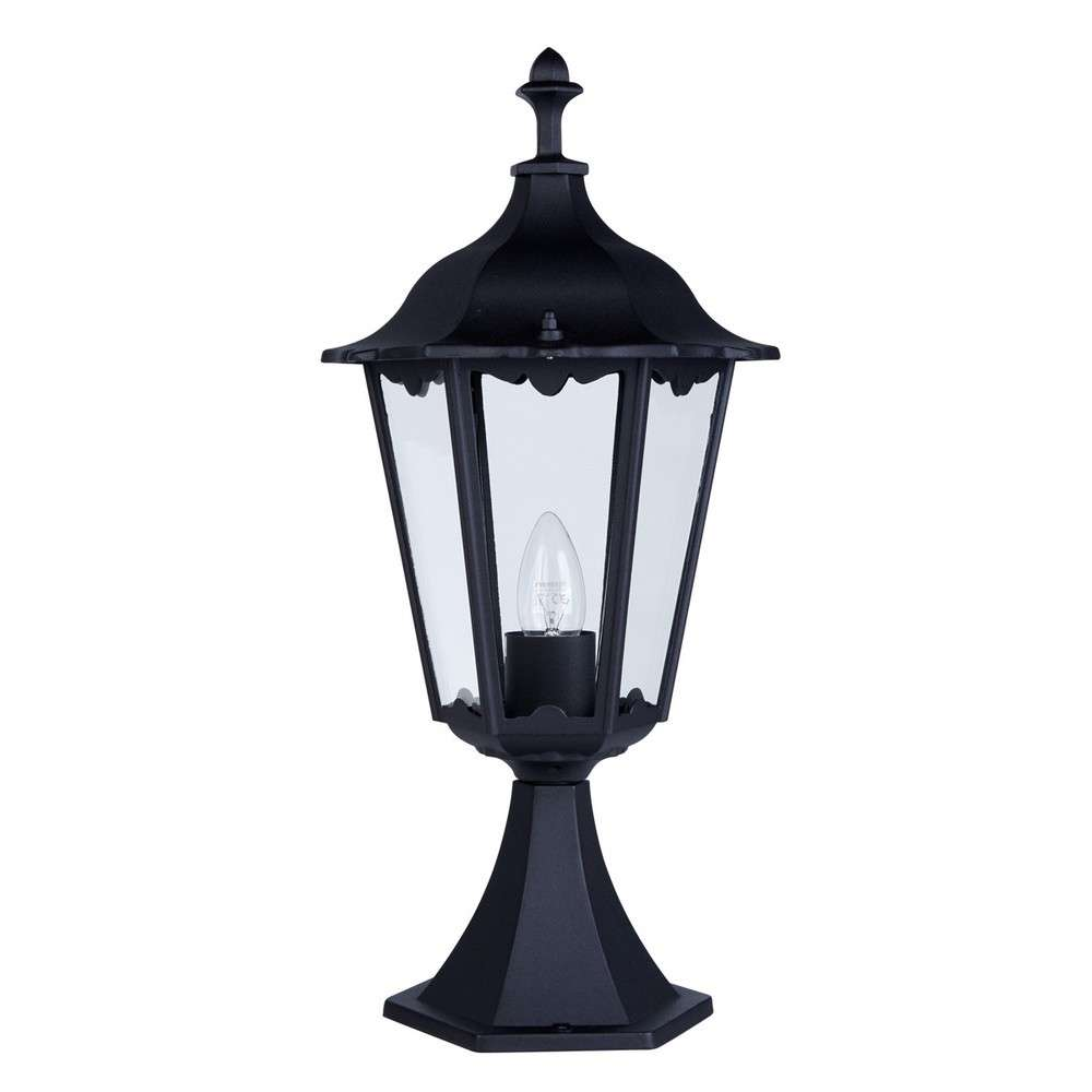 Alex Outdoor Post Lamp Small 1 Light Black Ht55