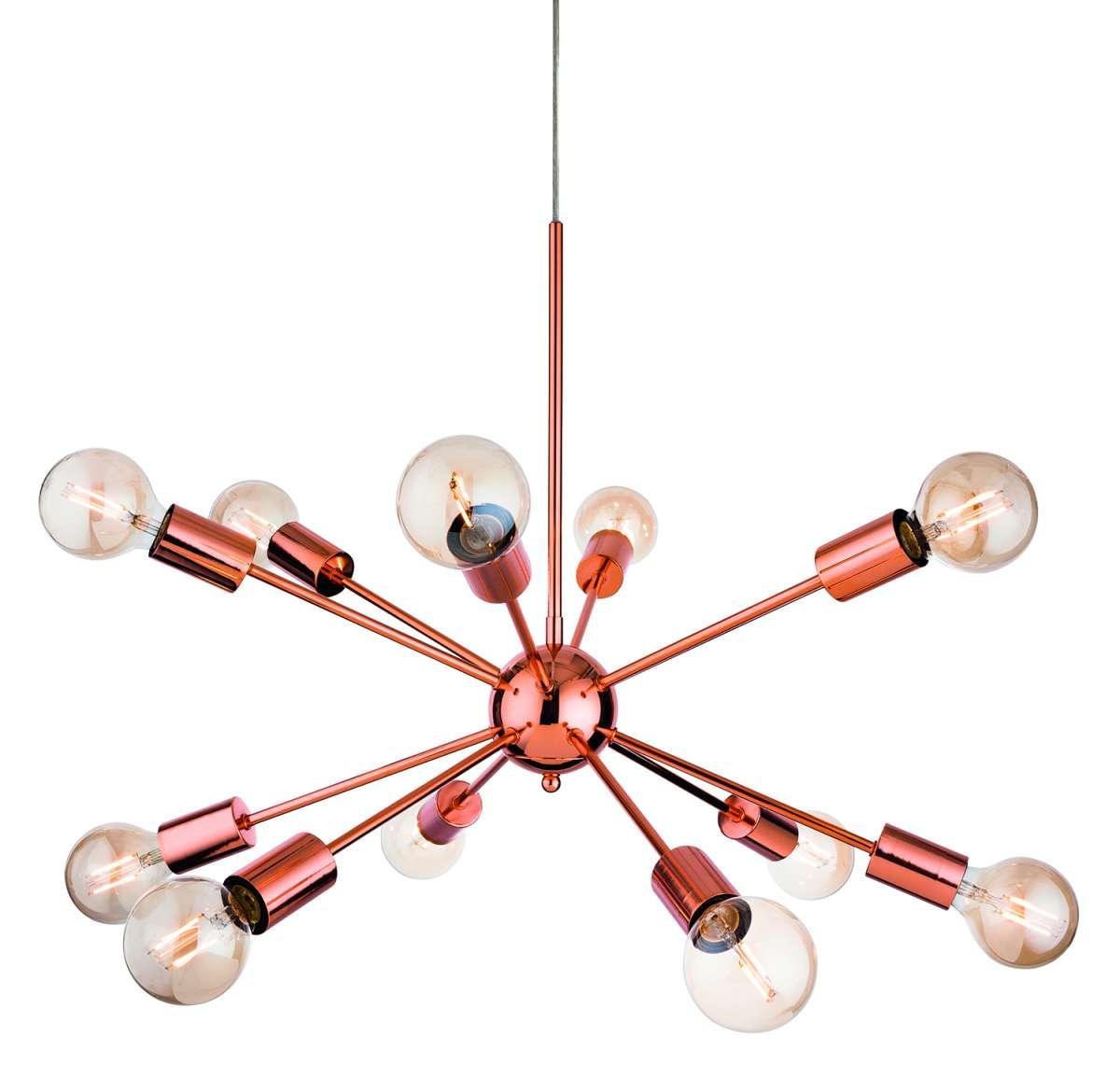 Alfa 12 Light Pendant in Copper Finish