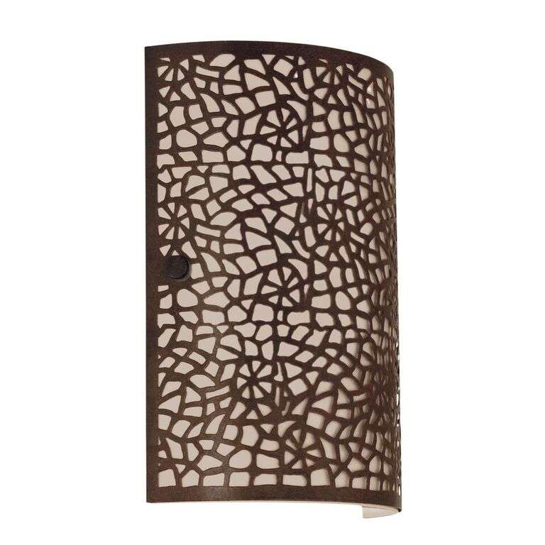 Almera 1 light Modern Wall Light Antique Brown Finish