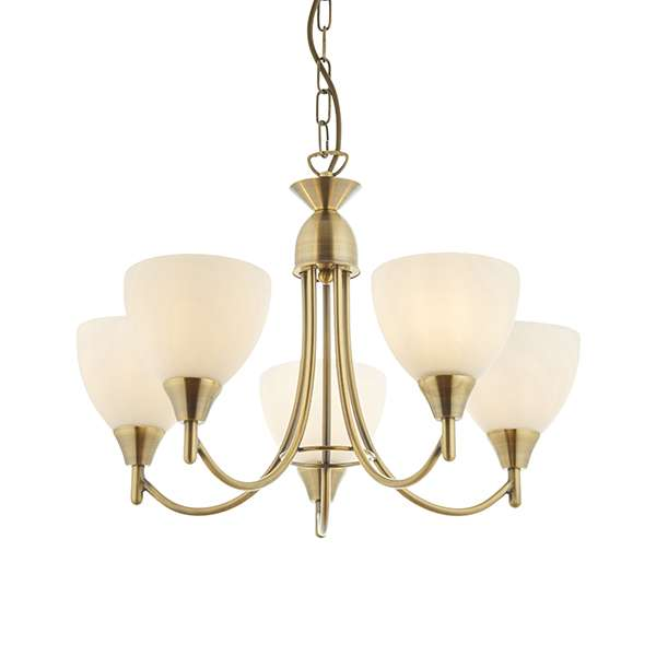 Alton 5-Light Antique Brass Dual Mount Fitting