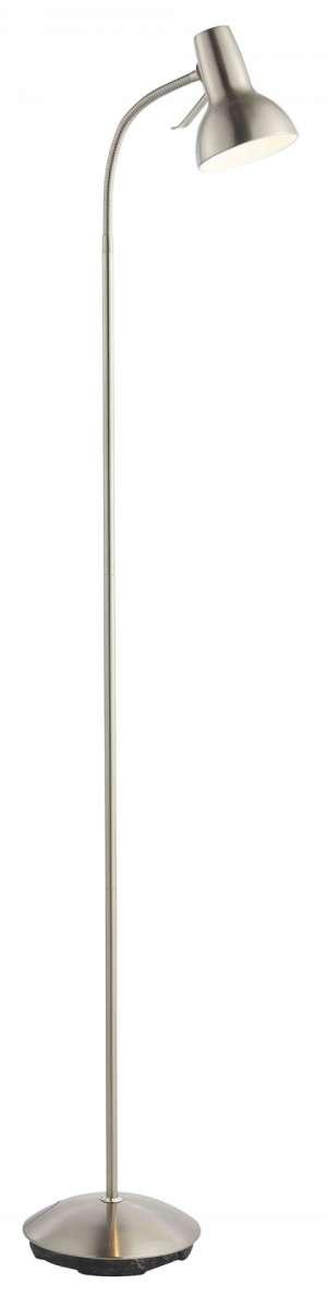 Amalfi Task Floor Lamp 7W Satin Nickle & White Gloss