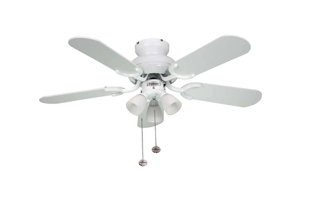 Amalfi White Ceiling Fan With Lights