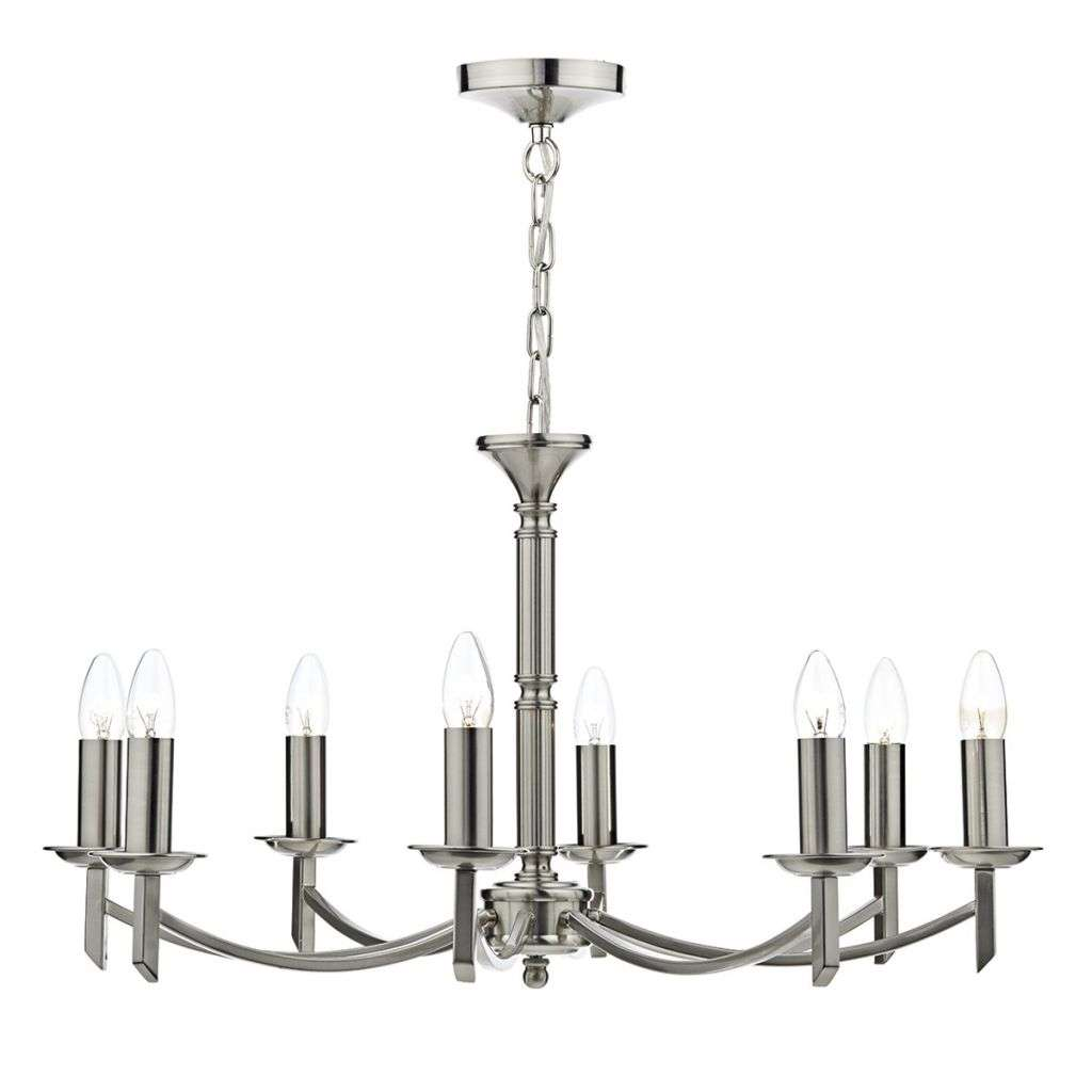 Ambassador 8 Light Dual Mount Pendant Satin Chrome AMB0846 | Online Lighting Shop