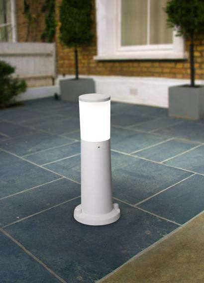 Amelia 400mm Grey Opal LED 6W Bollard Post Light