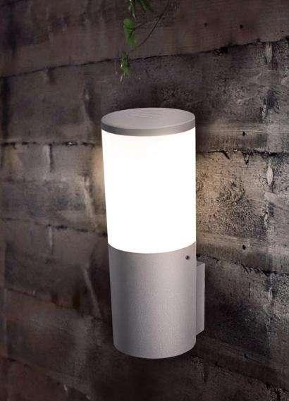 Amelia Grey Opal LED 6W Bollard Wall Light