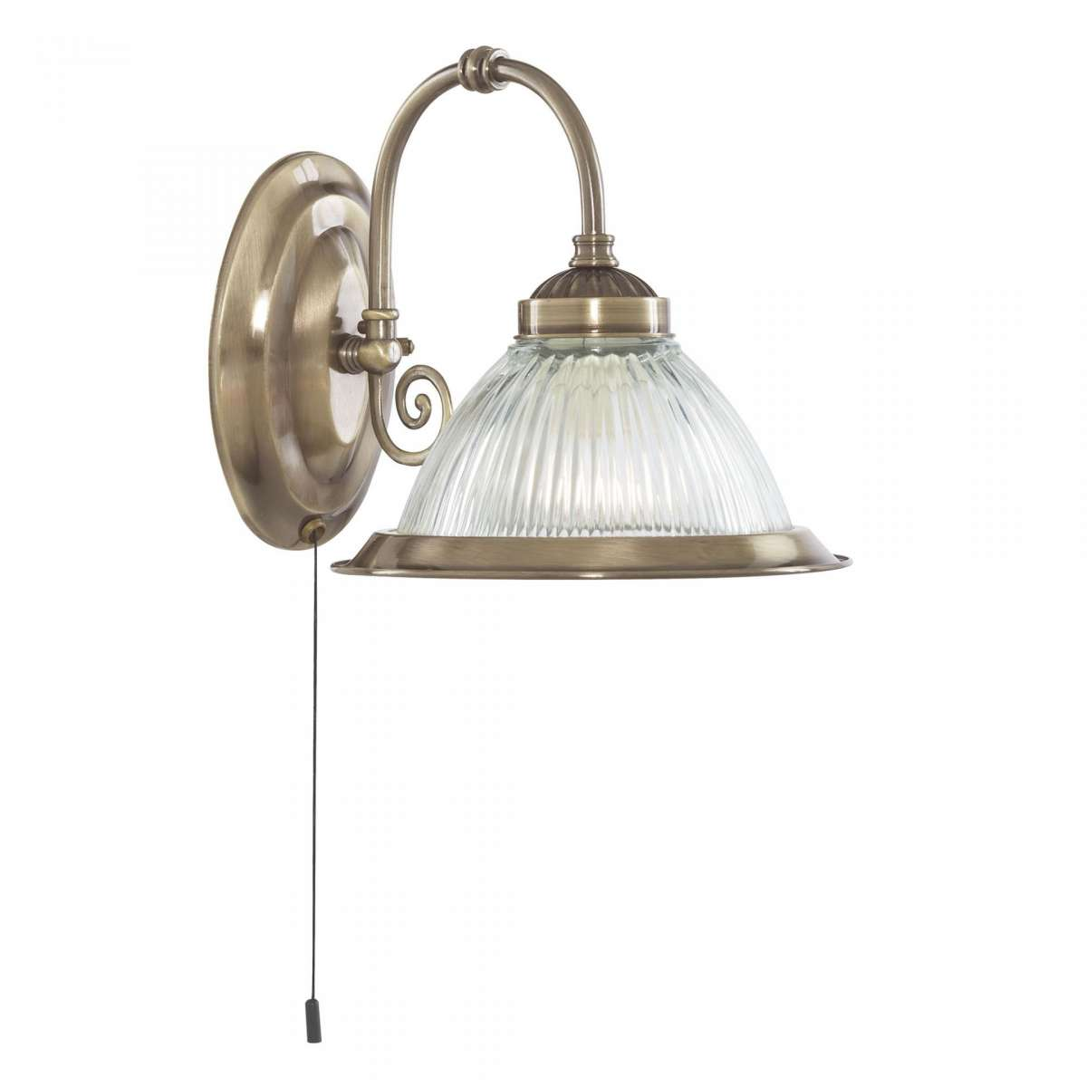 American Diner 1-Light Antique Brass Wall Bracket
