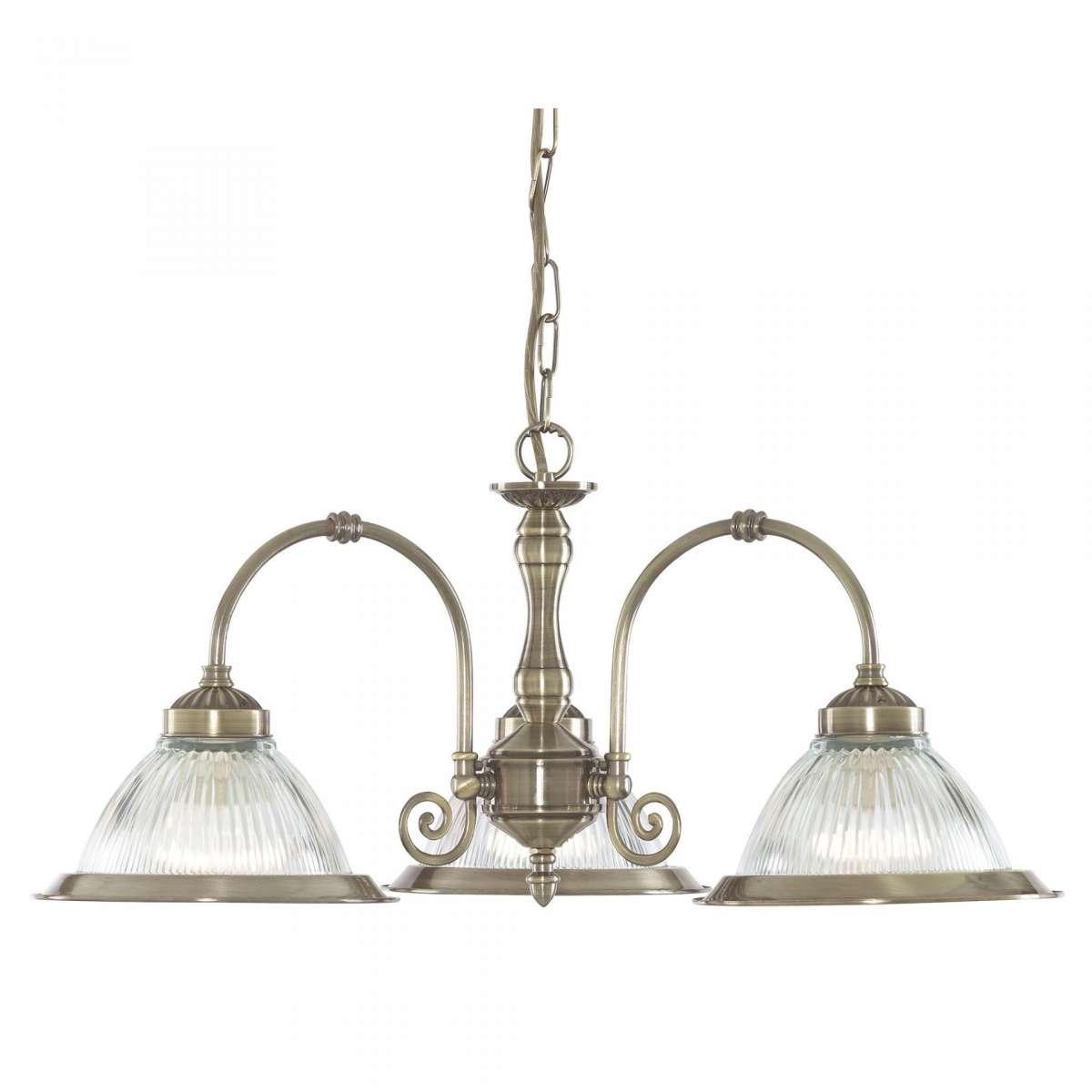 American Diner Antique Brass 3 Light OLS
