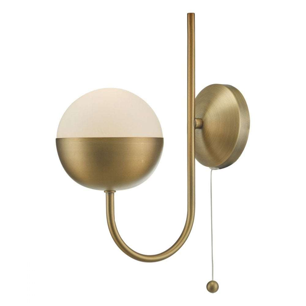 Andre 1lt Wall Light Aged Brass