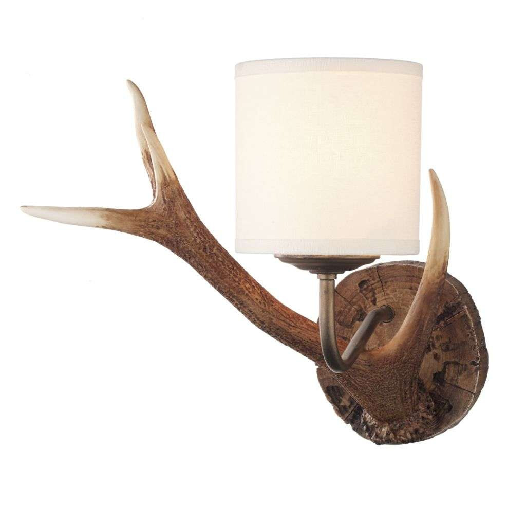 Antler 1 Light Highland Rustic Wall Bracket