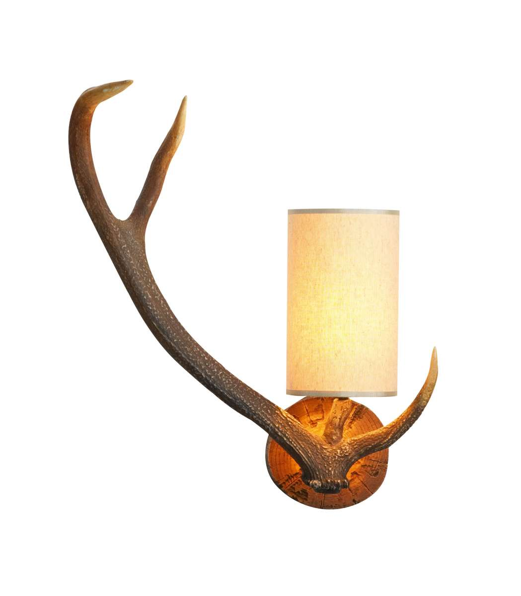 Antler 1-Light Highland Rustic Wall Bracket