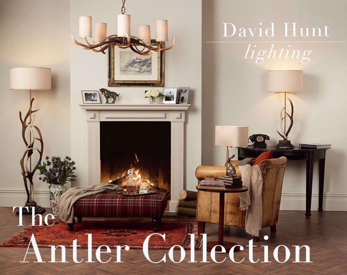 david hunt antler chandelier light