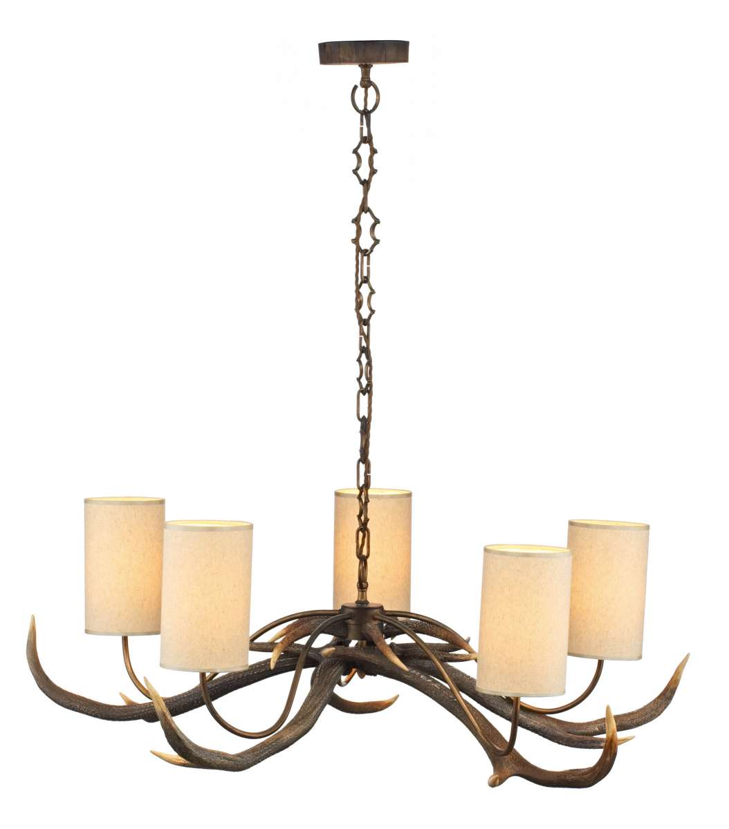 Antler 5-Light Highland Rustic Fitting | Online Lighting Shop
