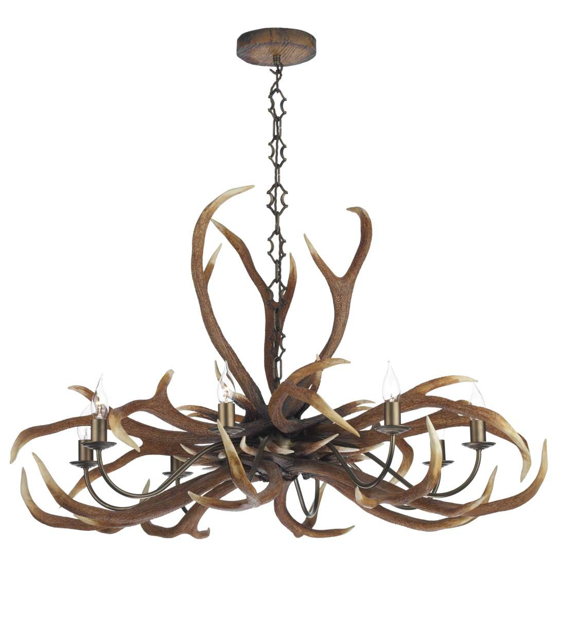 Antler Emperor 8-Light Highland Rustic Fitting