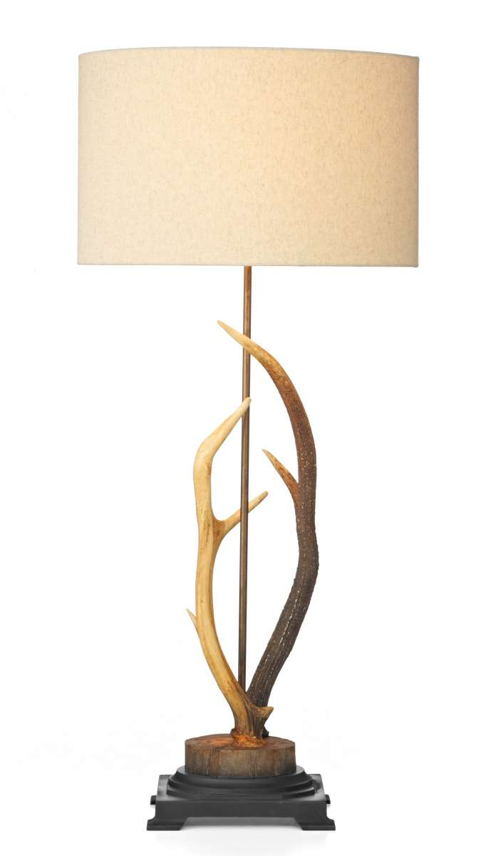 Antler Highland Rustic Table Lamp With Shade