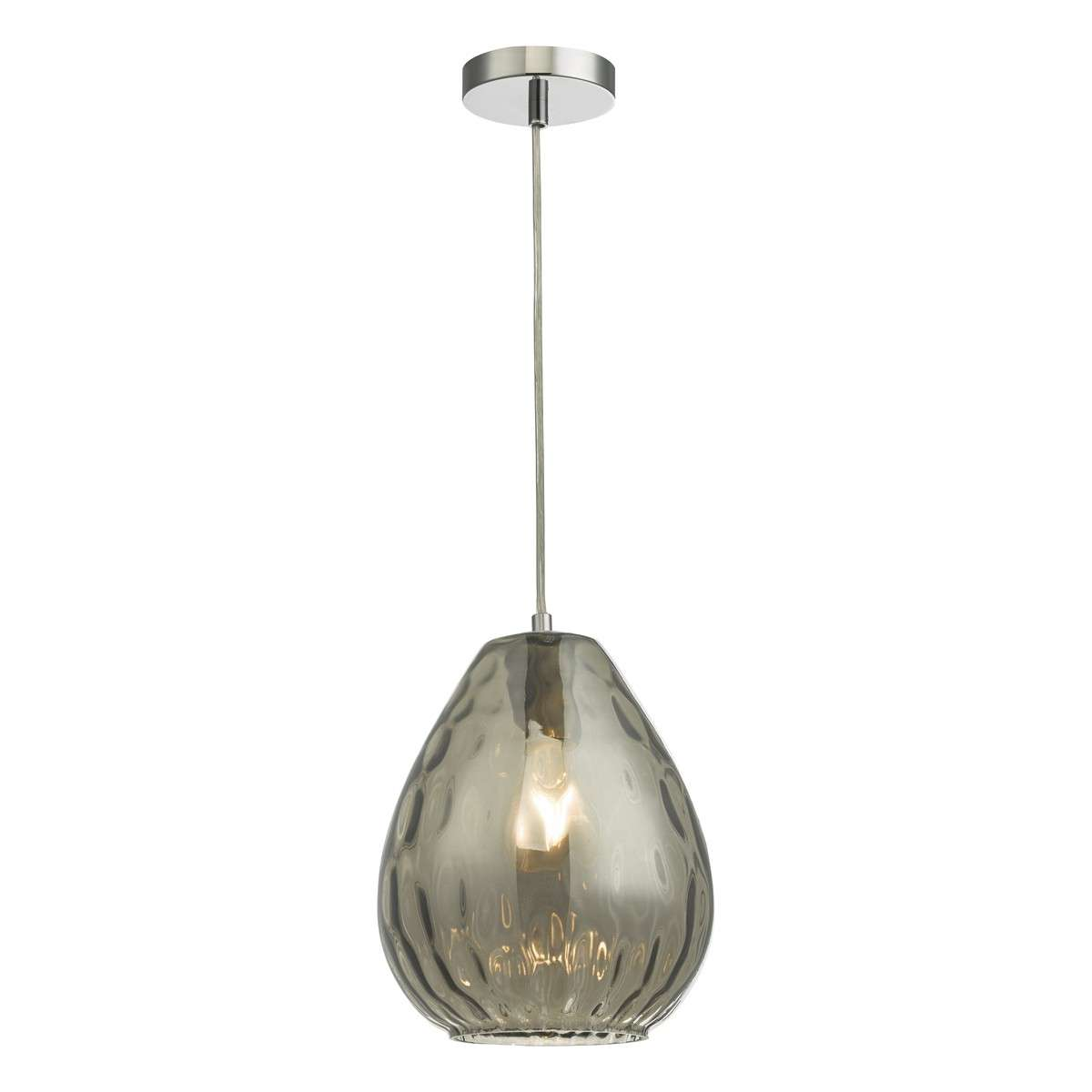 Apulia Pendant Light Smoked Glass