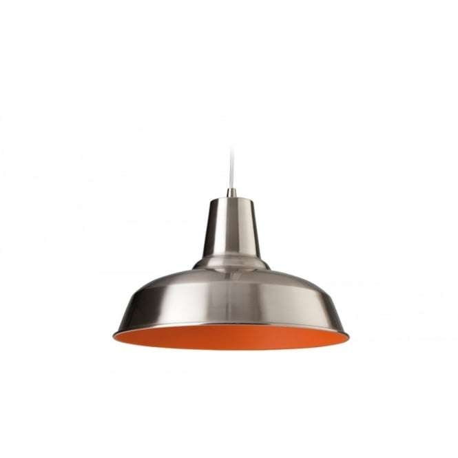 Art Deco Modern Brushed Steel Ceiling Hanging Light Pendant