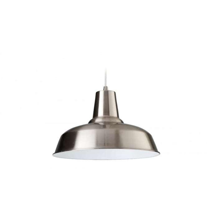 Art Deco Modern Brushed Steel Ceiling Hanging Light Pendant