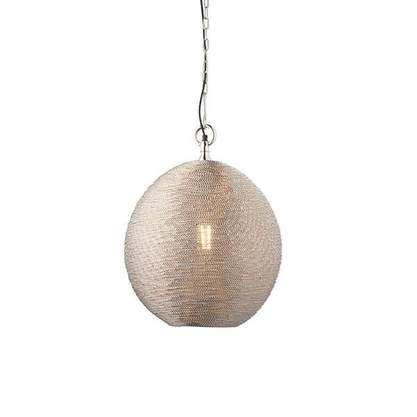 Asha Wire Pendant in Polished Nickel Finish