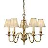 Asquith 5lt pendant & beige shades 40W