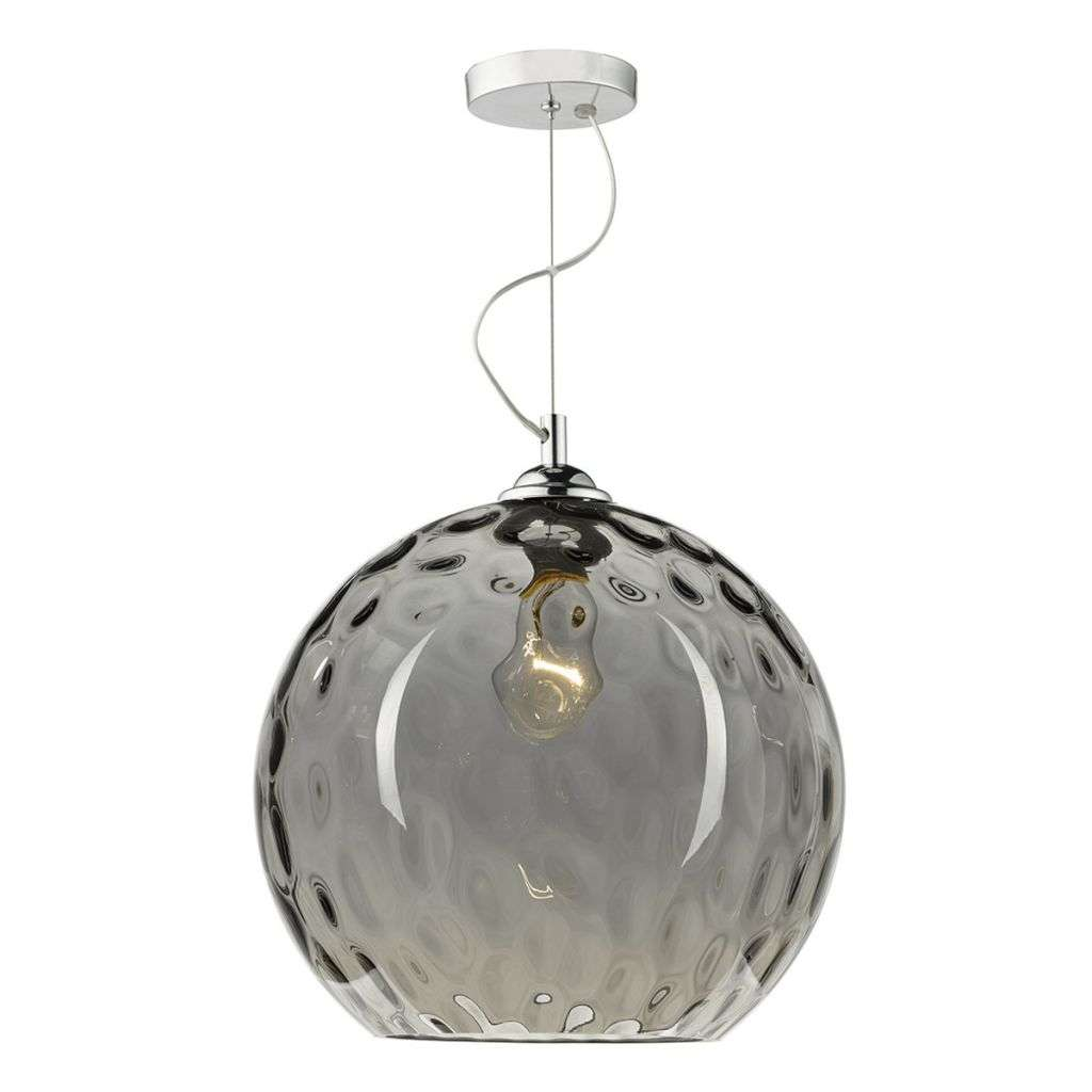 Aulax 1 Light Pendant Silver Smoked Glass With Dimple Effect - See more at: http://www.darlighting.com/aulax-1-light-pendant-silver-smoked-glass-with-dimple-effect-aul0110.html#sthash.cx0rzM5L.dpuf