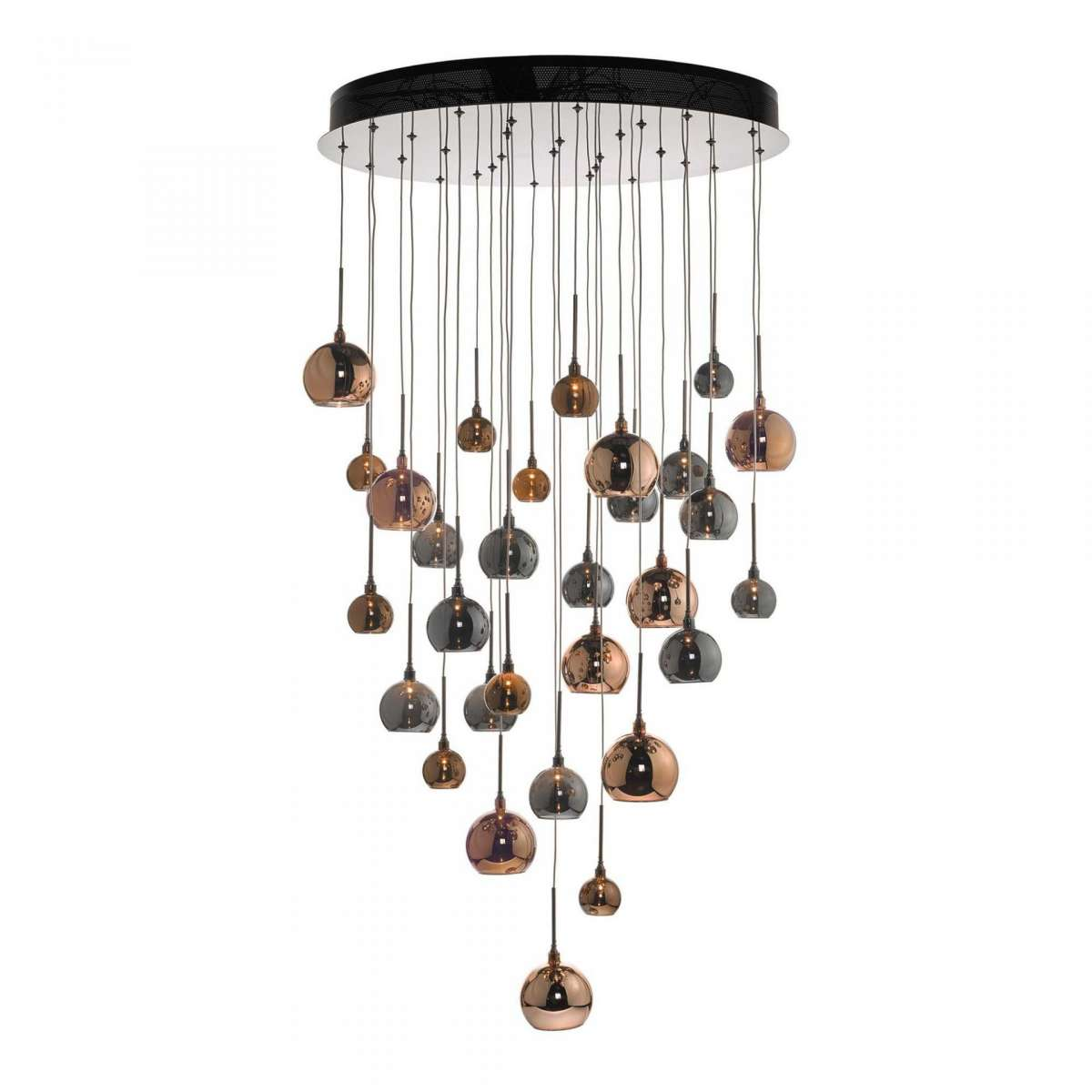 Aurelia 30 Light Cluster Pendant Copper & Bronze 3M Drop
