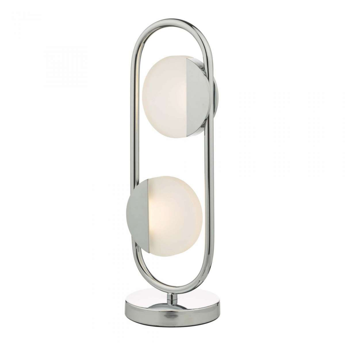 Axelia 2 Light Table Lamp Polished Chrome LED